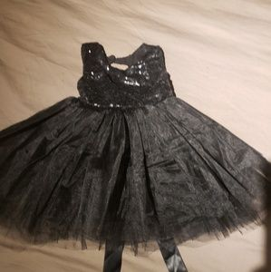 Black sequins and tulle dress